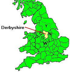 Map Of England Derbyshire.Wirksworth Parish Records Derbyshire